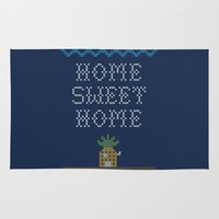 home sweet home Area & Throw Rugs featuring Home Sweet Home by Phil Jones