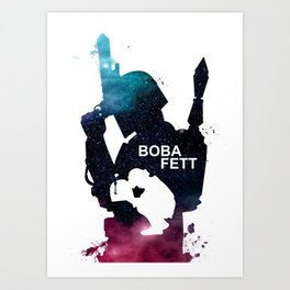 Star War Boba Fett - galaxy  Art Print