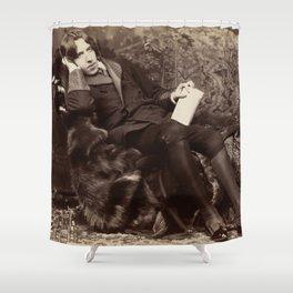 Oscar Wilde Lounging Portrait Shower Curtain