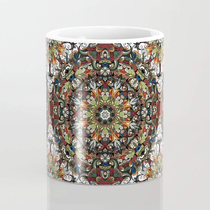 Boho Geometric Mandela Pattern 1 Coffee Mug
