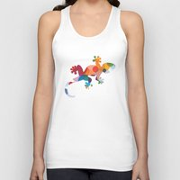 chameleon Tank Tops featuring Chameleon by General Design Studio