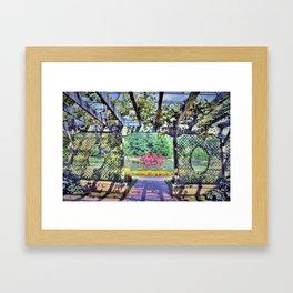 Grape Arbor Framed Art Print