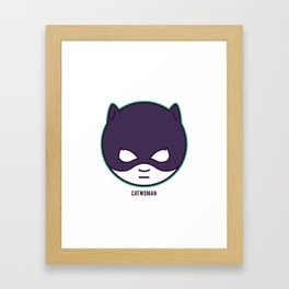 Lil' Heroes: Catwoman Framed Art Print