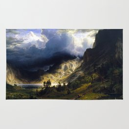 A Storm In The Rocky Mountains Rug