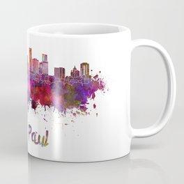 Saint Paul skyline in watercolor Coffee Mug