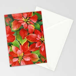 poinsettia tradition Stationery Cards