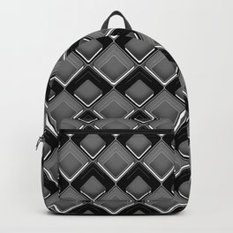 Abstract black and white geometric pattern . Backpack