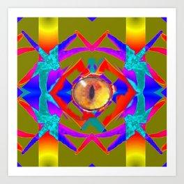 Dragon 's Eye Abstract Art Print