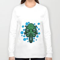 cthulu Long Sleeve T-shirts featuring Cthulhu by kelseycadaver