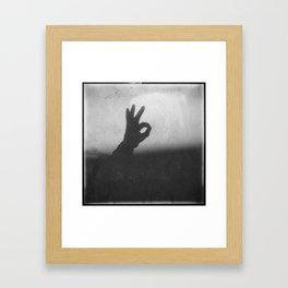 OK (B&W) Framed Art Print