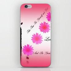 TAKE TIME iPhone & iPod Skin