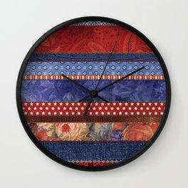 Oxford Patchwork Stripe Wall Clock