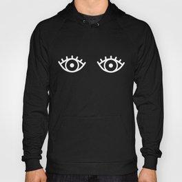 Black & White Spooky Eyes Hoody