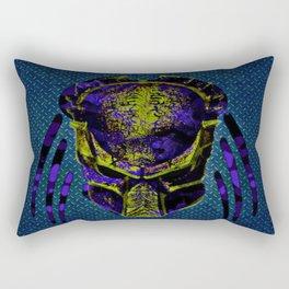 Soldier Predator Blue Yellow Rectangular Pillow