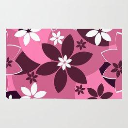 Floral fantasy in pink Rug