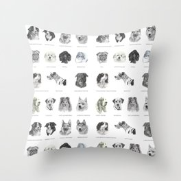 Dog poster Throw Pillow