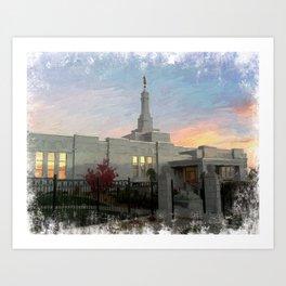 Reno Nevada LDS Temple Art Print