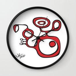 Orbs N Lines - Flying Animal Wall Clock