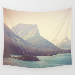Retro Glacier Wall Tapestry