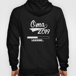 Promoted to Grandma Est 2019 Becoming Oma Gift Hoody