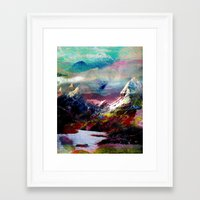 landscape Framed Art Prints featuring Untitled 20100816g (Landscape) by tchmo