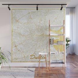 Dublin Map Gold Wall Mural