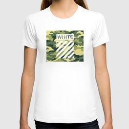 off white army camo T-shirt