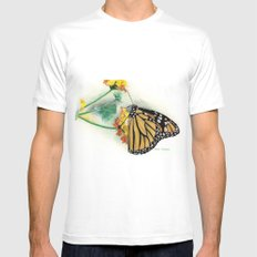 Butterfly Mens Fitted Tee MEDIUM White
