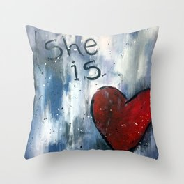 She is Love Throw Pillow