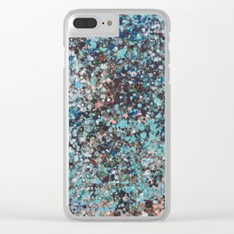 color de lluvia.dripping water, rain color Clear iPhone Case