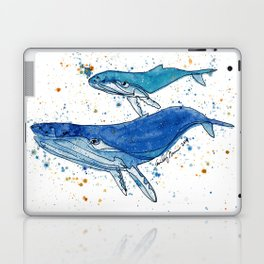 Whale Mommy and Baby Laptop & iPad Skin