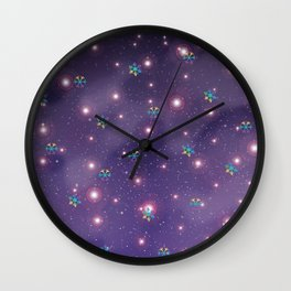 Snowflake in Universe Wall Clock