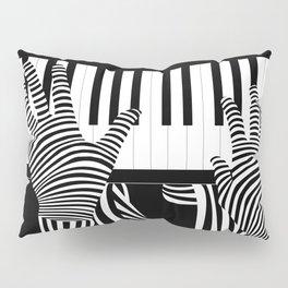 B&W Pianist Pillow Sham