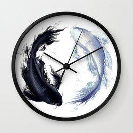 Yin Yang Carps Wall Clock