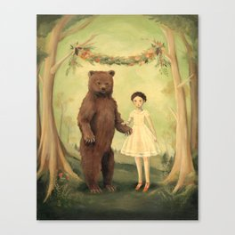In the Spring, She Married a Bear Canvas Print