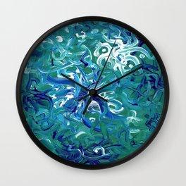 Aquamarine Abstract Artwork Wall Clock