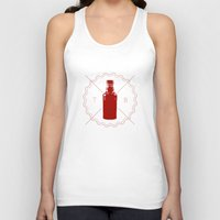true blood Tank Tops featuring Badge inspired by True Blood by Purshue feat Sci Fi Dude