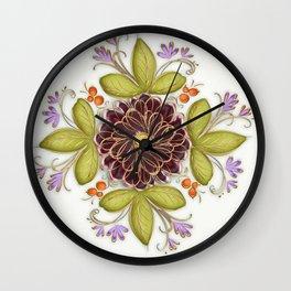 Flowers Decorative Pattern Wall Clock
