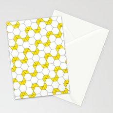 Geometric Pattern #47 (yellow hexagon) Stationery Cards