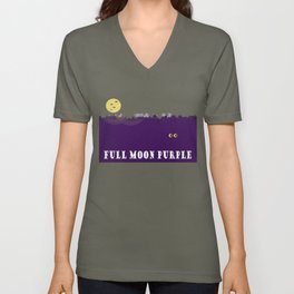 Full Moon Purple Unisex V-Neck