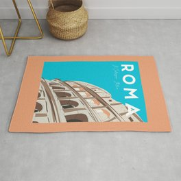 Rome, Italy Colosseum / Roma Il Colosseo, Italia Travel Poster Rug