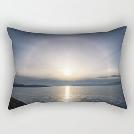 Halo over ice of lake Baikal Rectangular Pillow