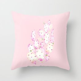 Prickly Pink Cactus Throw Pillow
