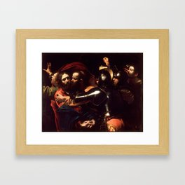 The Taking of Christ by Caravaggio (1602) Framed Art Print