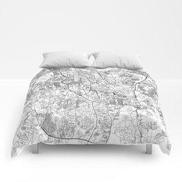 Jakarta White Map Comforters