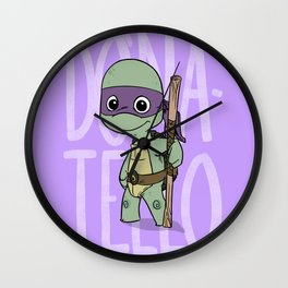 TMNT: Donatello (Cute & Dangerous) Wall Clock