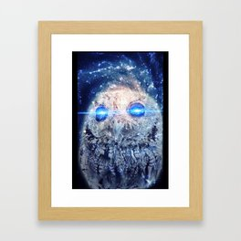 Owl with Lasers Framed Art Print