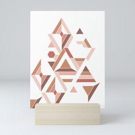 Geometric pattern - Nude Tiles Mini Art Print