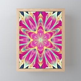 Flower Of Life Mandala (Pink Passion) Framed Mini Art Print