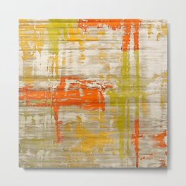 A Splash Of Citrus Grunge Abstract Metal Print